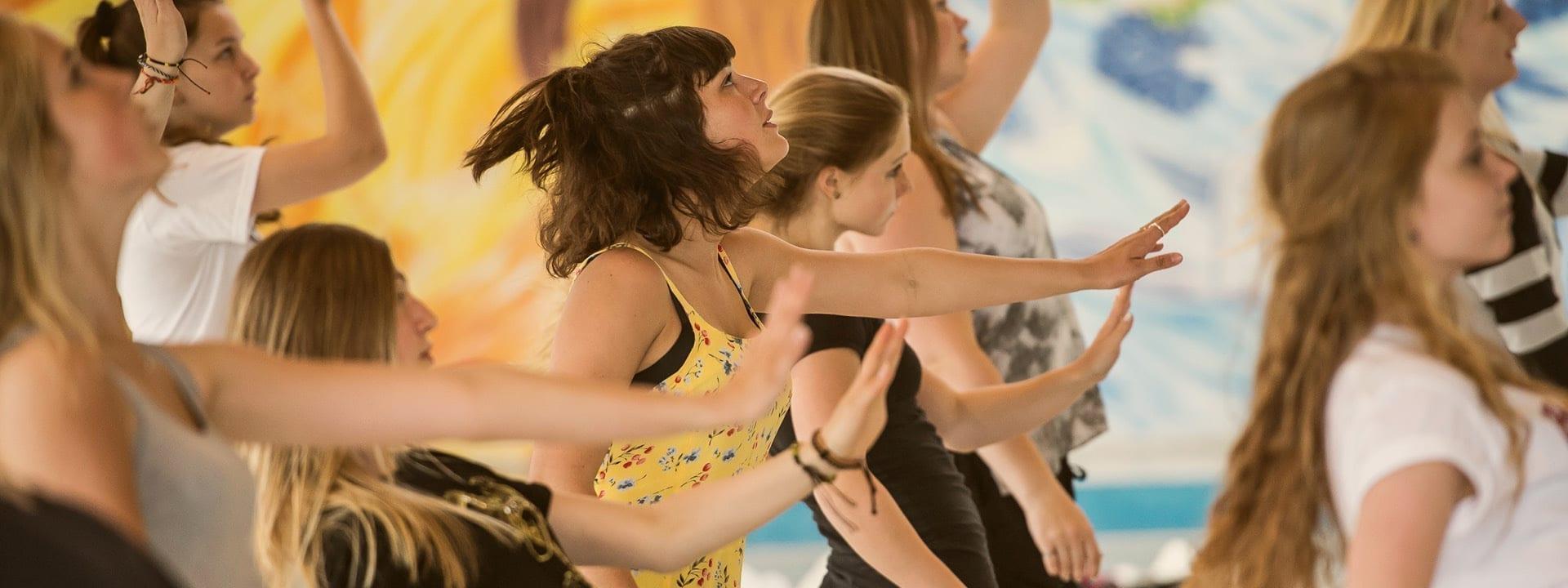 Dansegruppe øver sig